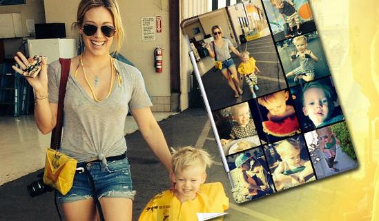 Hilary Duff partecipa al regalo di compleanno 2014