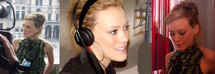 Foto di Hilary Duff in Italia, Milano Radio Deejay