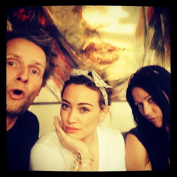 Hilary Duff in studio di registrazione con Lauren Christy