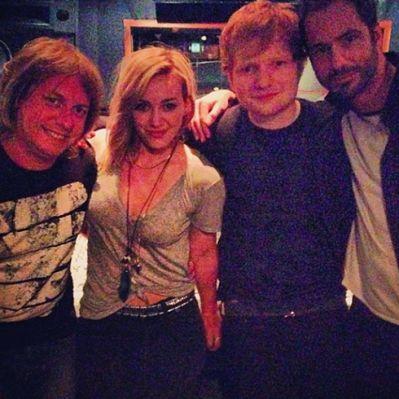 Hilary Duff con Ed Sheeran