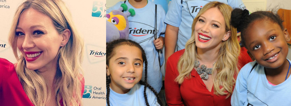 hilary_duff_trident_smile_charity_beneficenza