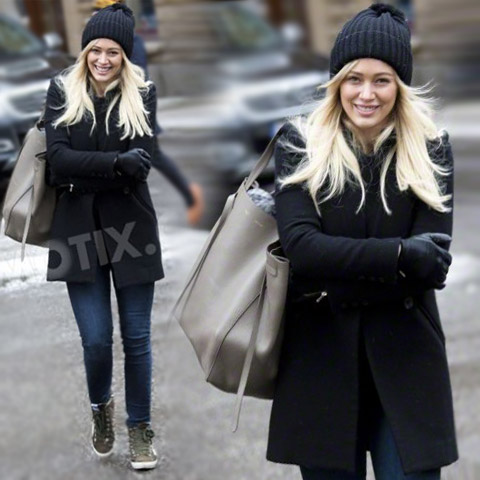 Hilary Duff in studio di registrazione in Svezia