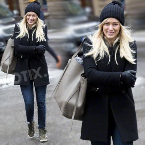 Hilary Duff in studio di registrazione in Svezia
