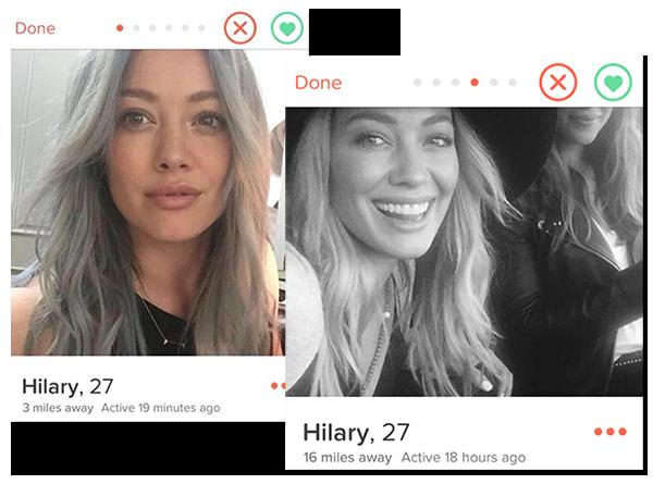 Profilo Tinder Hilary Duff
