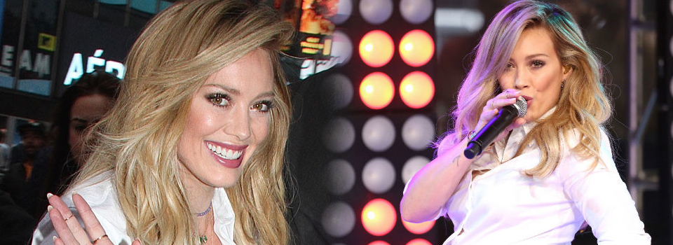 Hilary Duff a Good Morning America canta live sparks dal nuovo album breathe in breathe out