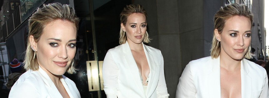 Hilary Duff al Today Show di New York promuove Younger