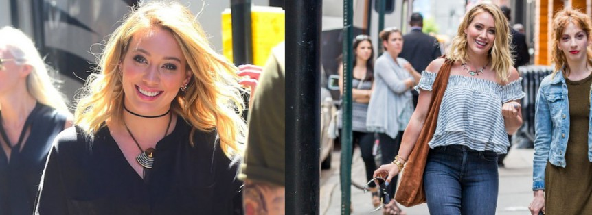 Hilary Duff sul set di Younger Terza Stagione New York