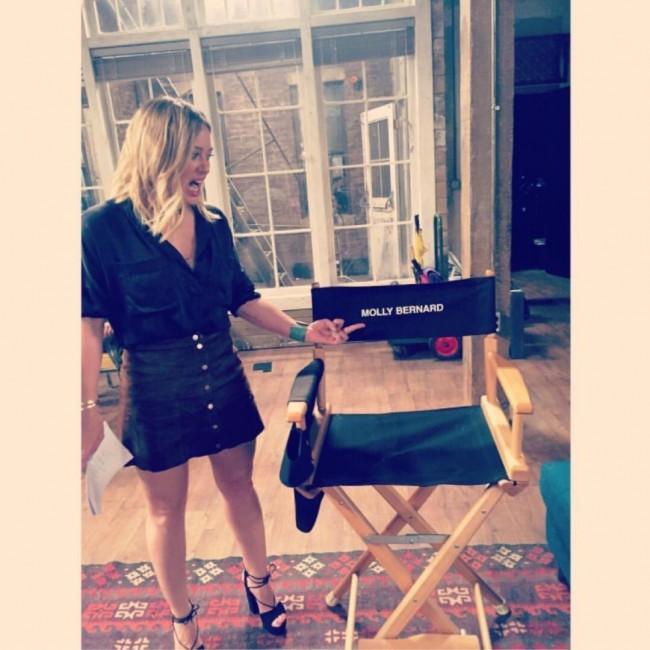 Hilary Duff sul set della serie tv Younger