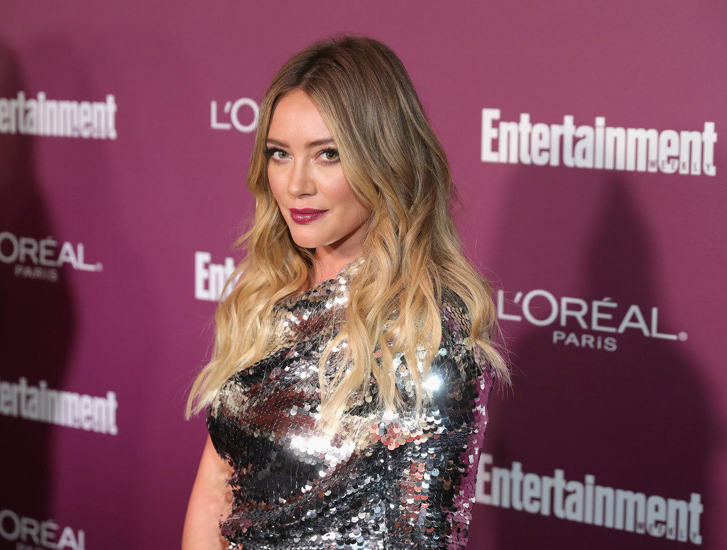 hilary duff pre emmy awards party loreal entertainment