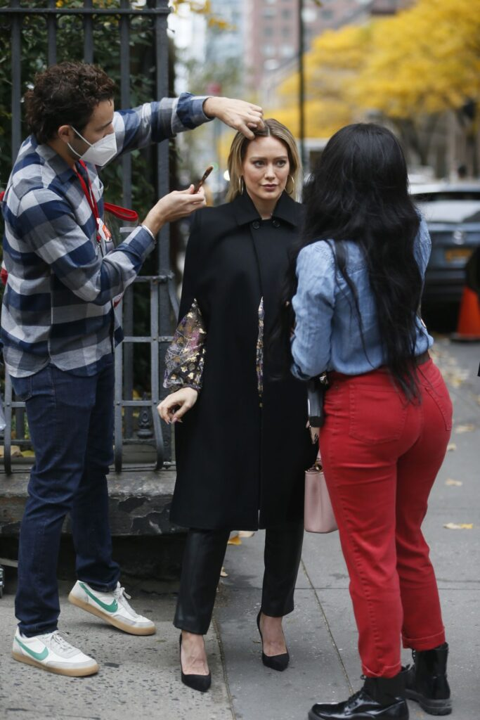hilaryduff set serie tv younger nyc 11 11 2020 stagione 7